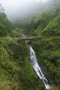 Waterfall on the Road to Hana, Hana Highway, Hawaii, USA.