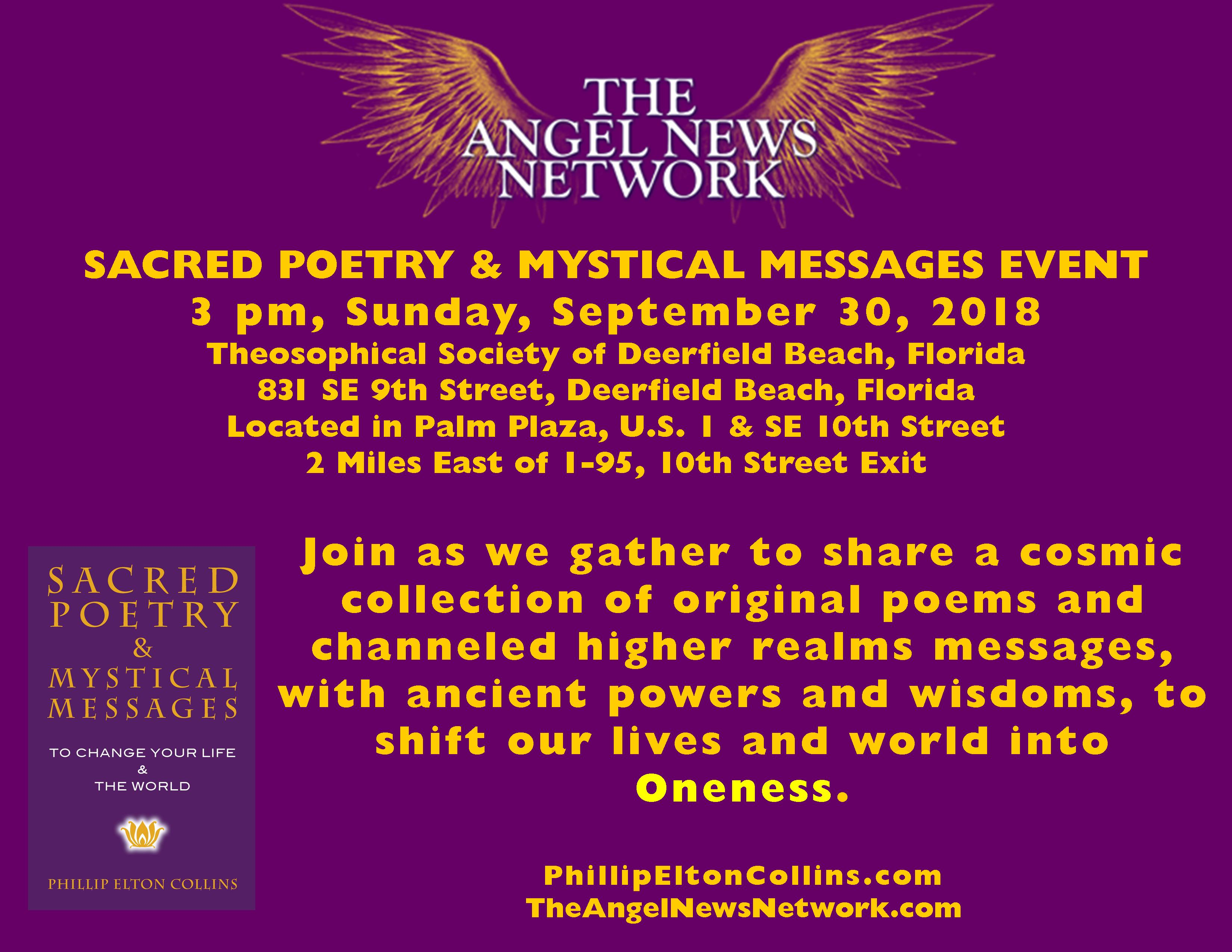 Sacred Poetry Reading, Join Us! | Phillip Elton Collins